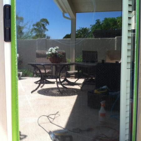 glass sliding door hard water repair phoenix az before 1